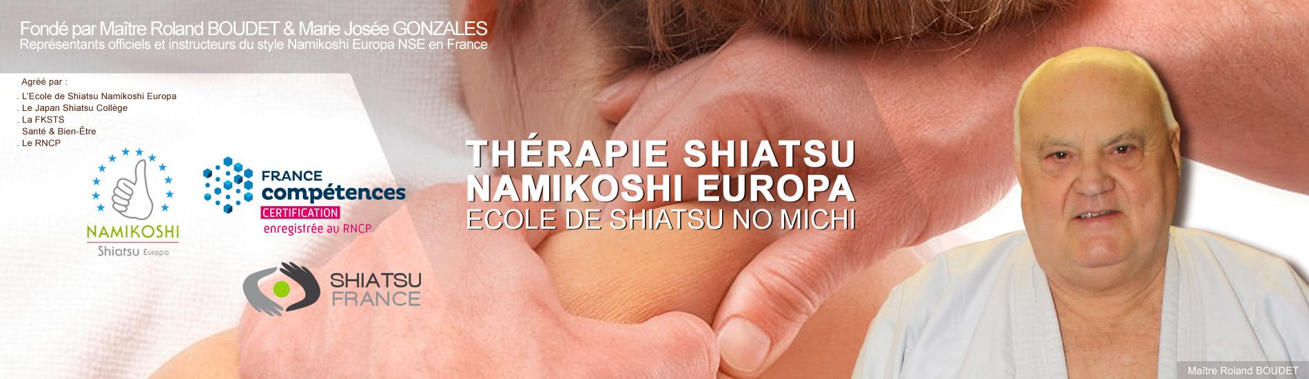 Thérapie ShiatsuNamikoshi Europa